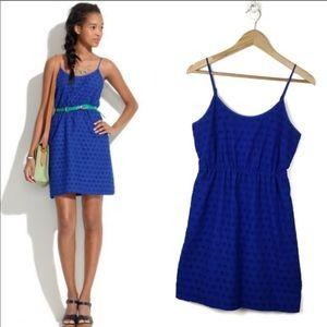 Madewell dress blue 0 EUC